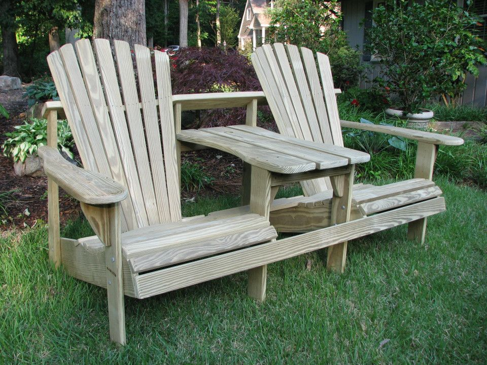 two seater adirondack chair