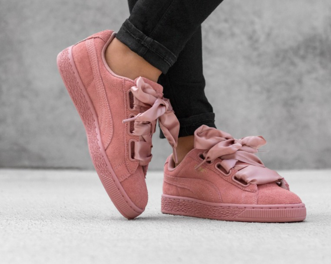 Puma Suede Heart Satin II Sneaker Urban Outfitters Pink Trendy #ad
