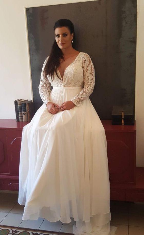42 vestidos de novia de talla grande para brillar – WeddingInclude  – Boda