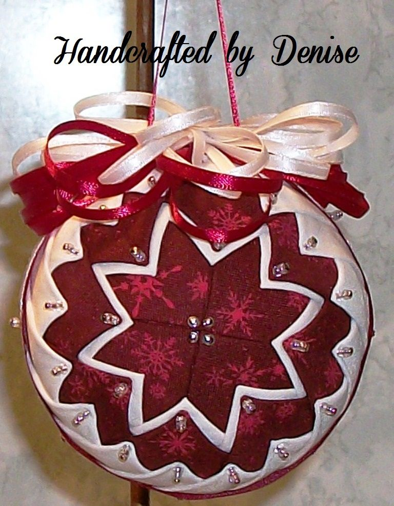 Red Snowflakes~ Quilt looking fabric ornaments made by Handcrafted ... : quilted fabric ornaments - Adamdwight.com