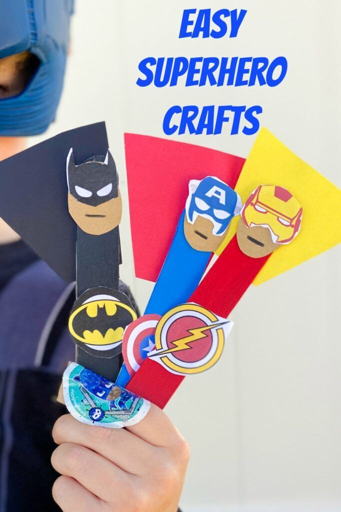 5 Superhero Crafts for Kids - The Chirping Moms