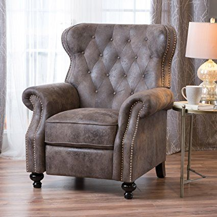 chair seat recliner armchair elderly real black lounge power amazon leather lift