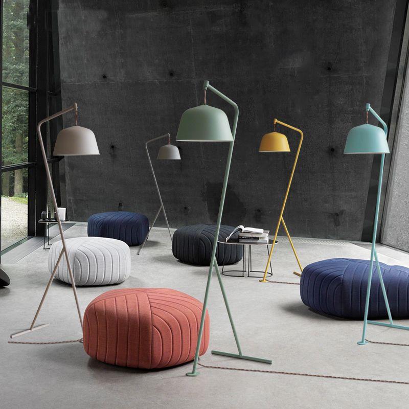 Modern simplified decorative vertical floor lamps standing