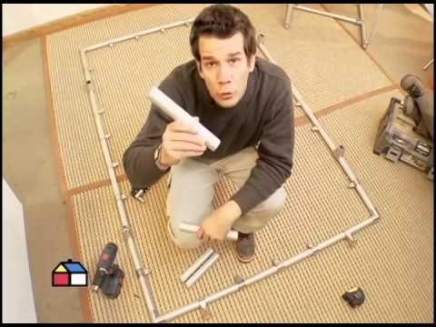C mo hacer un biombo con tubos de aluminio youtube - Como hacer un cerramiento de aluminio ...