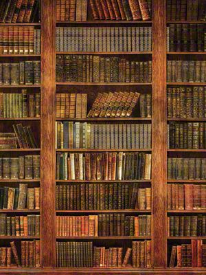 Cp7317 Worn Volumes Rustic Bookcase Photography Backdrops