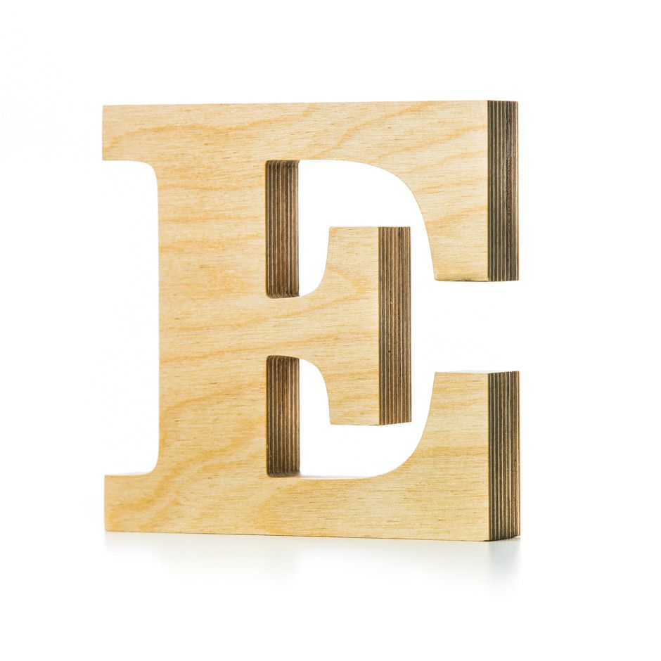 E - wooden letter | Decoration, Plywood texture and Woods