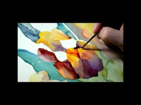Watercolor Painting Negative Painting Youtube Watercolor