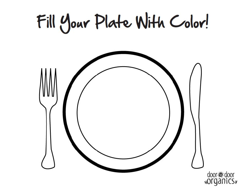 food plates coloring pages - photo#17