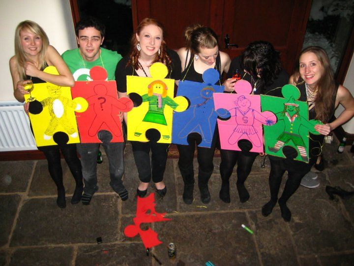 Jigsaw Fancy Dress Outfits Easy Group Fancy Dress Idea Jigsaw Fancy Dress Group Fancy Dress Fancy Dresses Party