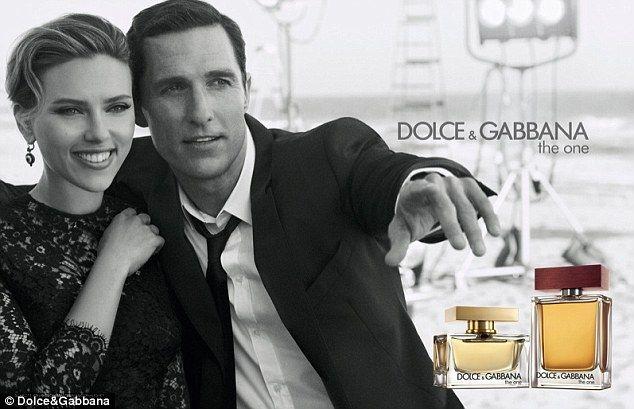 Scarlett johansson joins matthew mcconaughey in new dg perfume ad perfume fragrance sciox Choice Image
