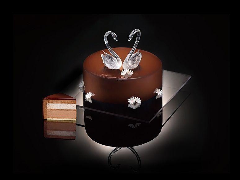黑天鹅蛋糕|Black Swan Luxury Cakes 冰上华尔兹-Waltz on Ice Gelato flavor: Chocolate & Rose