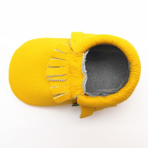 Amarelo-macio-criterio-Tassel-couro-sapatos-bebe-menino-menina-infantil-Toddller-0-36-MTHS
