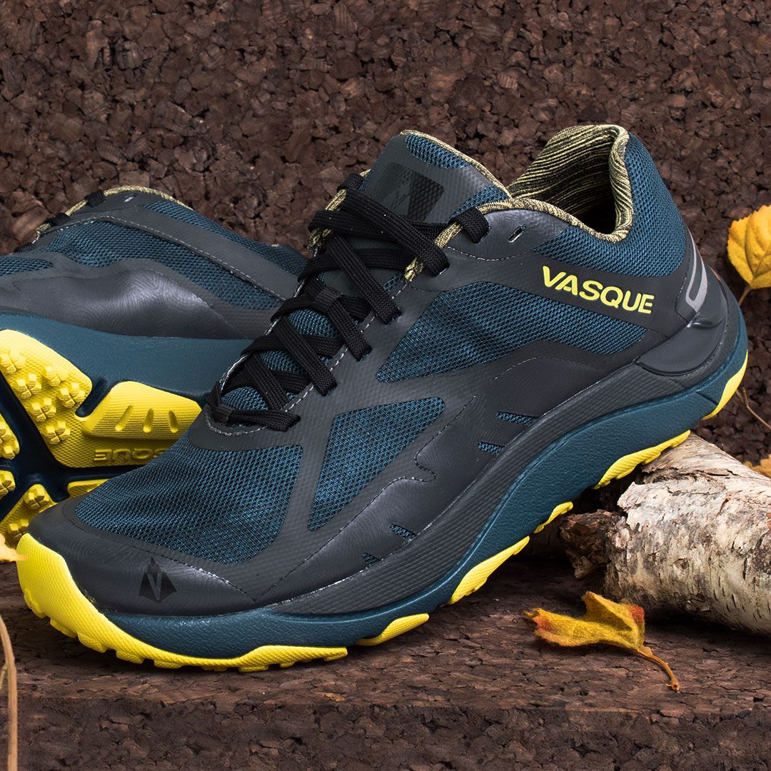 Trail Running Shoes Teal Neon Yellow