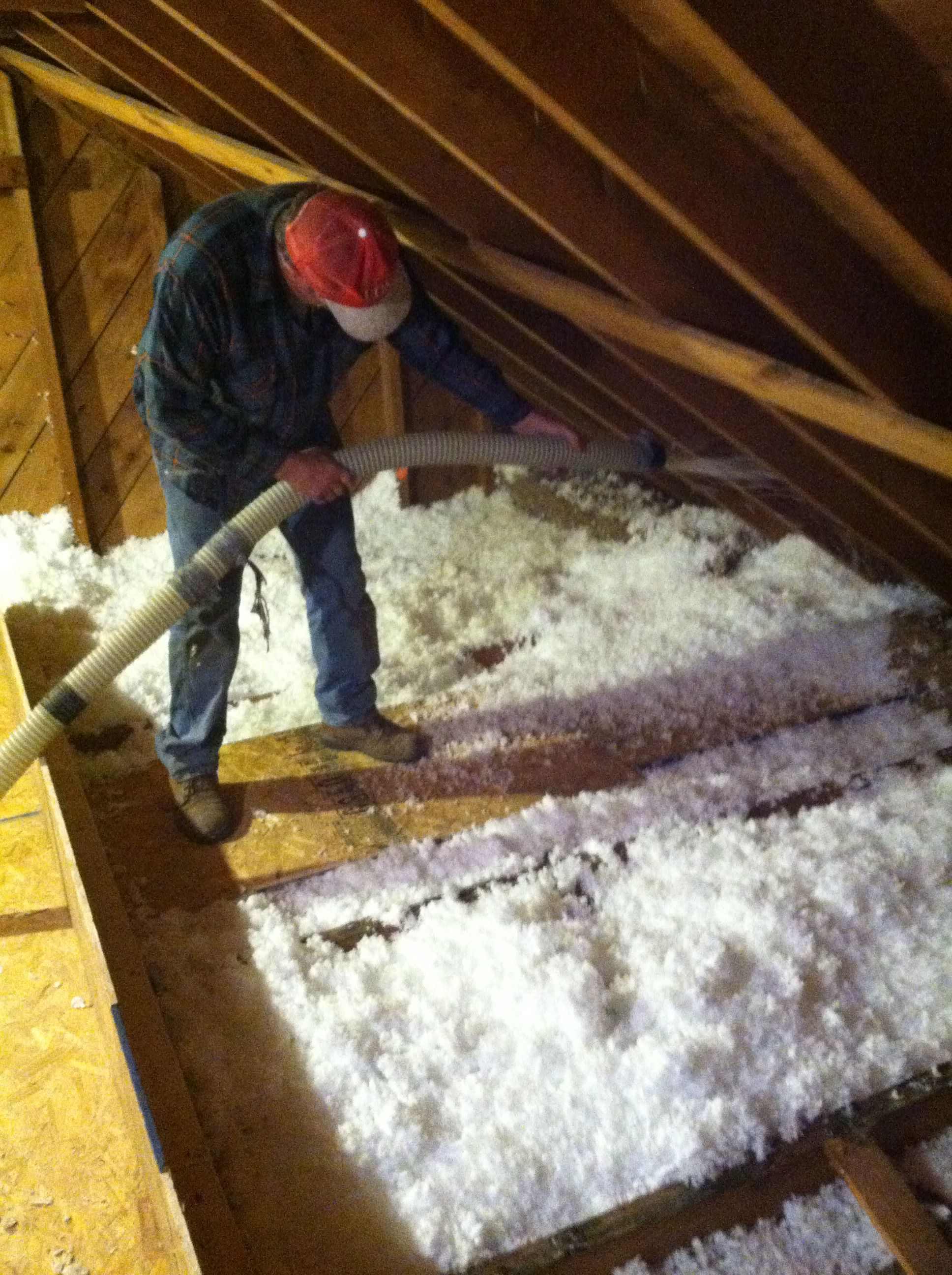 Adding Blown In Fiberglass Insulation To Attic 15 Inches Fiberglass Insulation Remodeling Projects Insulation