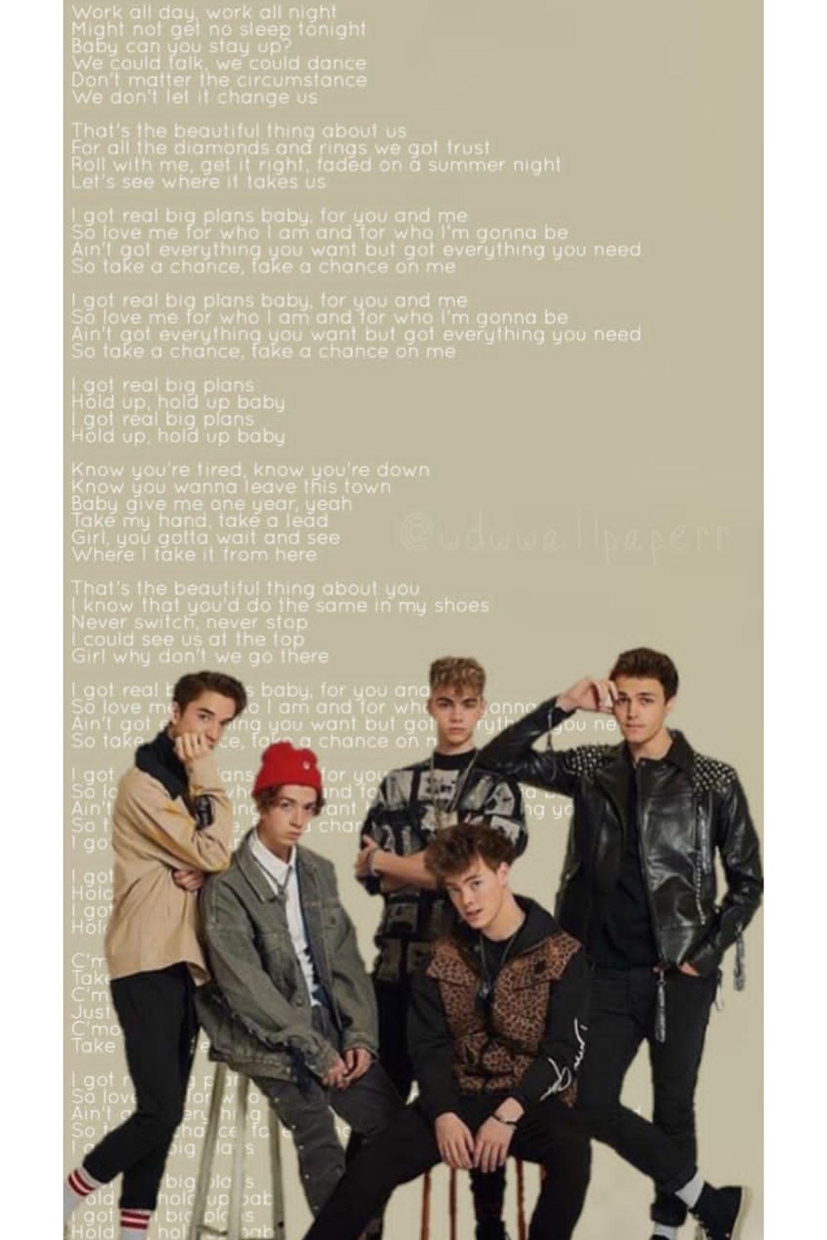 Big Plans Wallpaper Why Don T We Wallpaper Song Lyrics Wallpaper Why Dont We Boys Lyrics