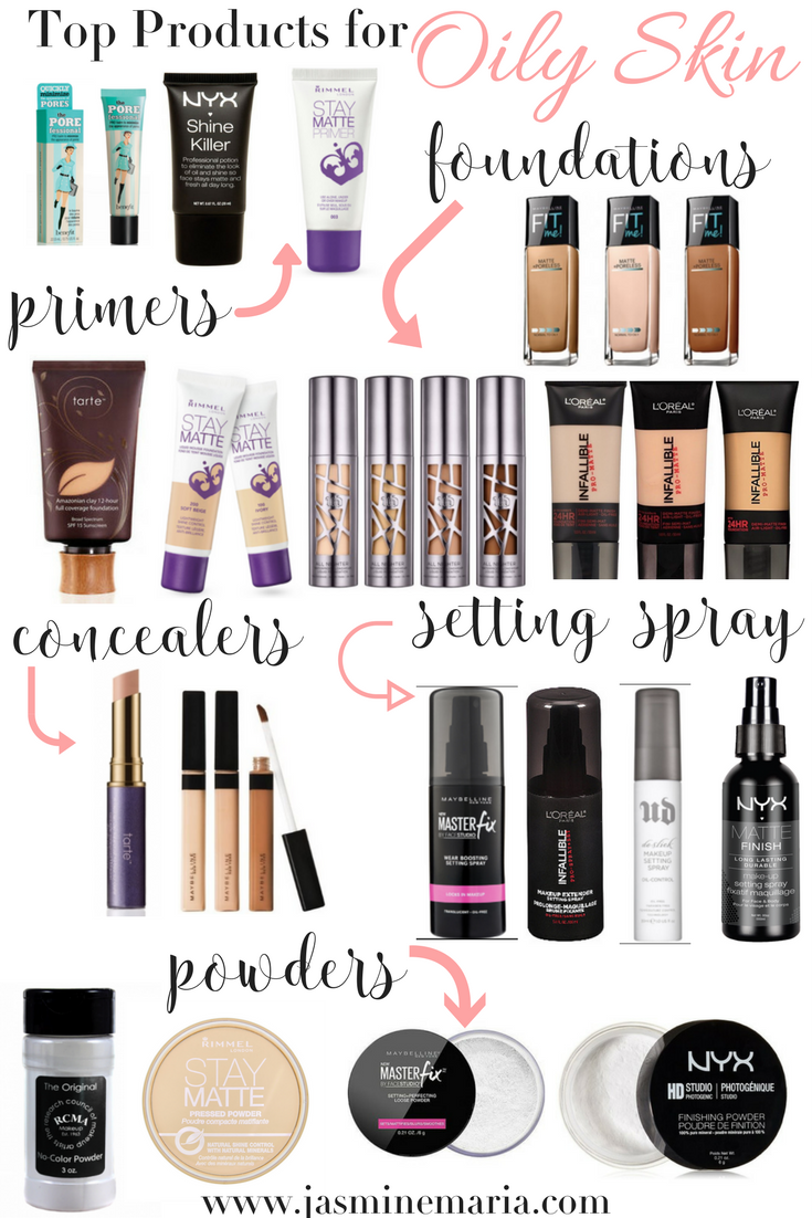 Top Makeup Products for Oily Skin Skin makeup, Oily skin