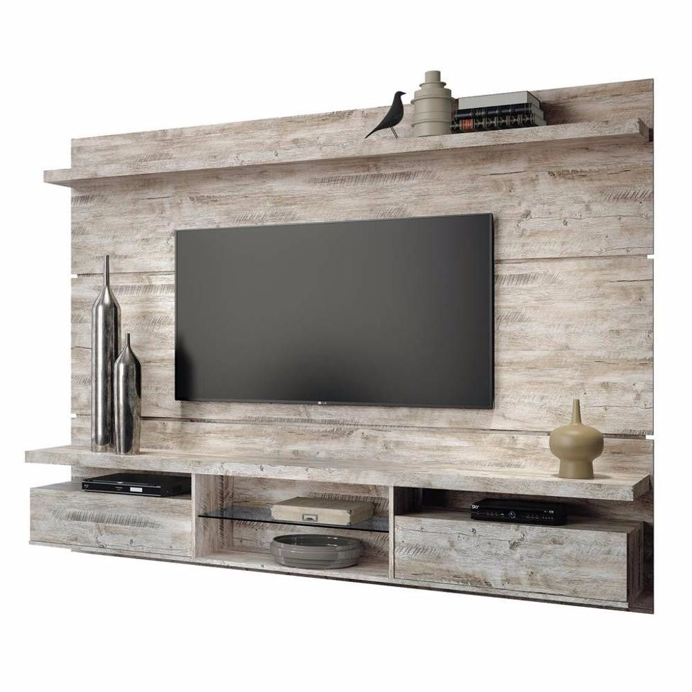 Painel Home Theater Suspenso Livin 2 2 Aspen Hb M Veis R 649  # Meuble Tv Stone
