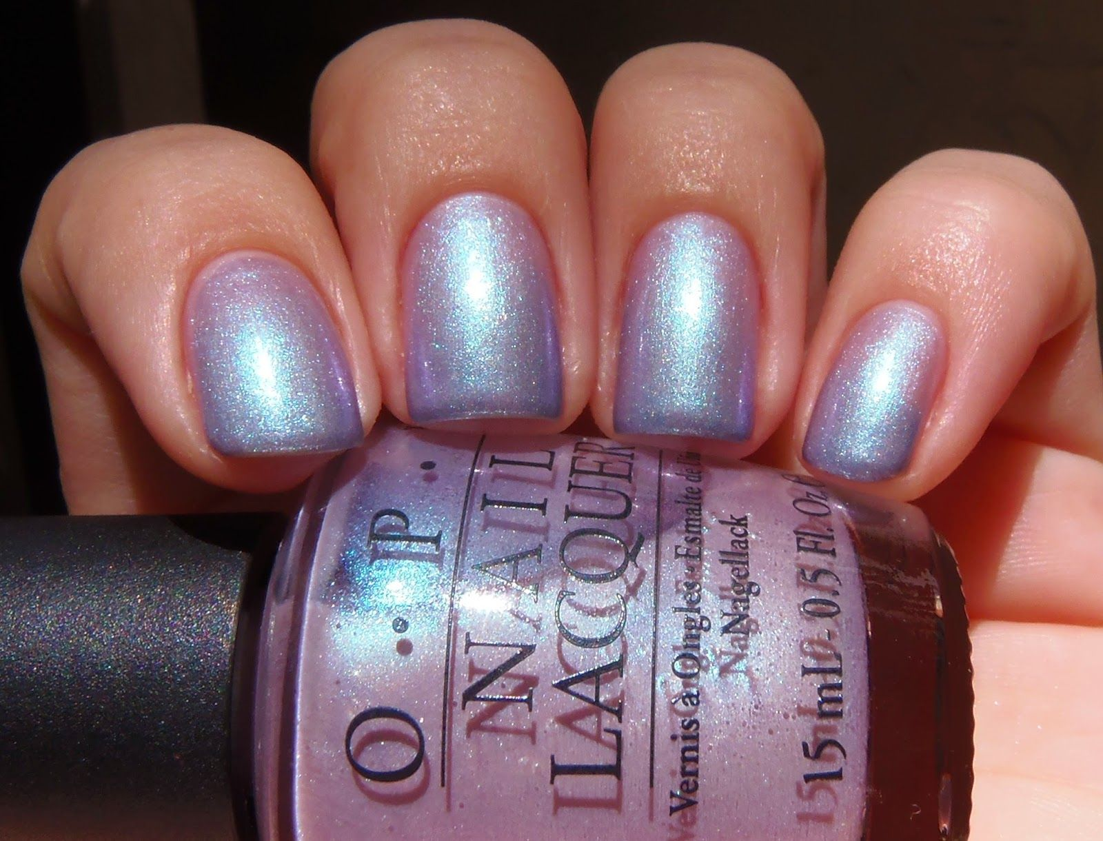 Opi Yokohama Twilight Is A Sheer Light Pink With Blue