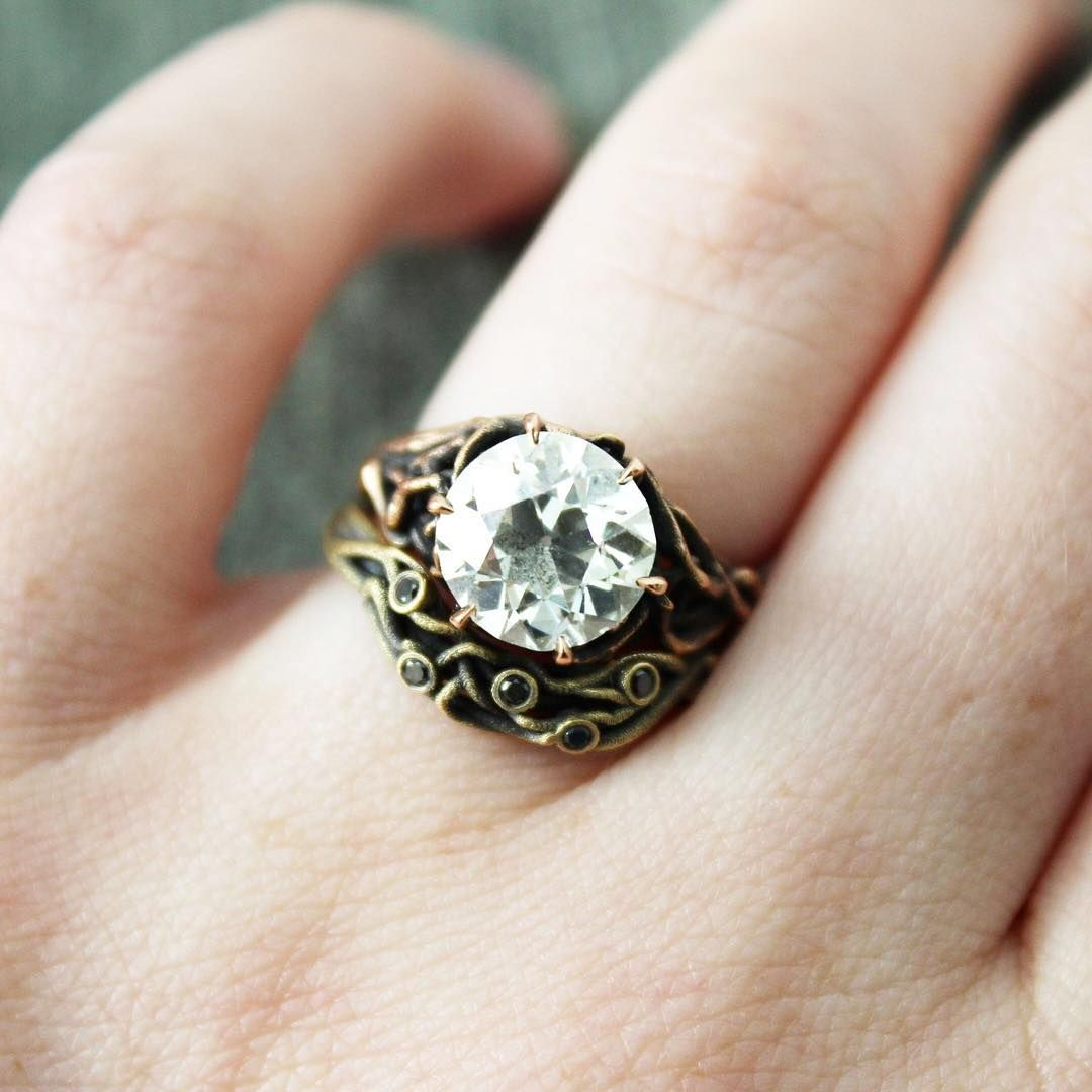 nontraditional buzzfeed size engagement rings to ringless vintage alternative wedding full non traditional of diamond