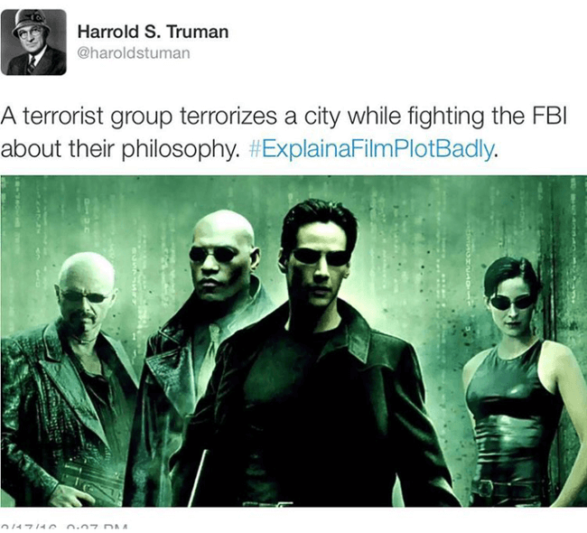 Explain A Film Plot Badly Explain A Film Plot Badly Best Sci Fi Movie Matrix Film