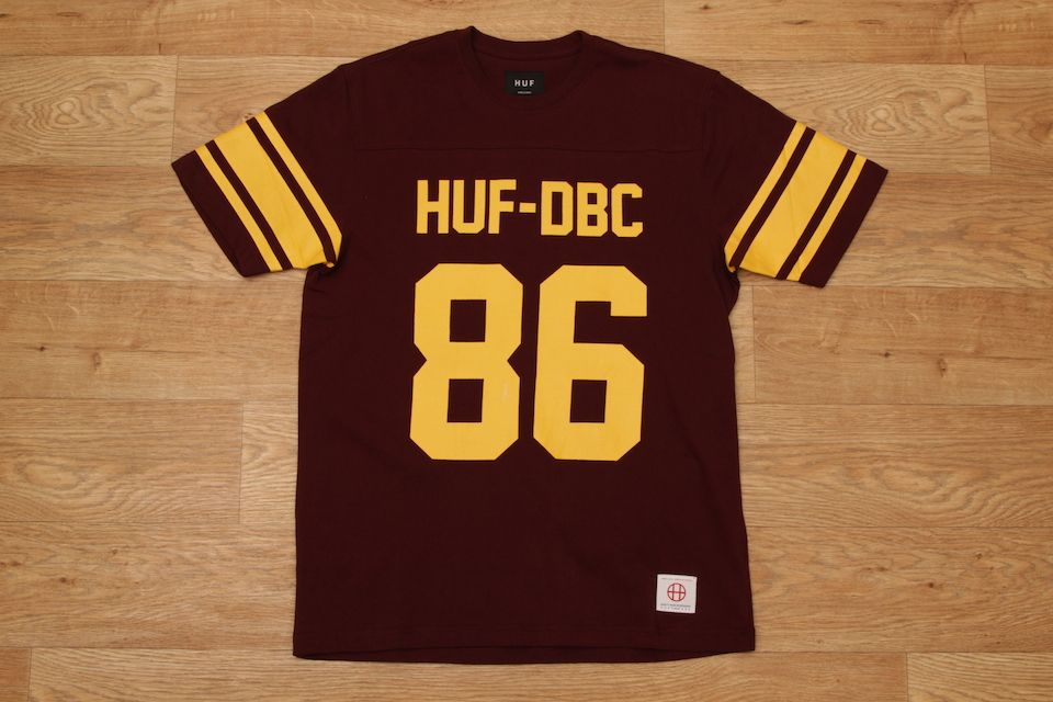HUF WRECKING CREW FOOTBALL JERSEY WINE £39.95  ad32b9490