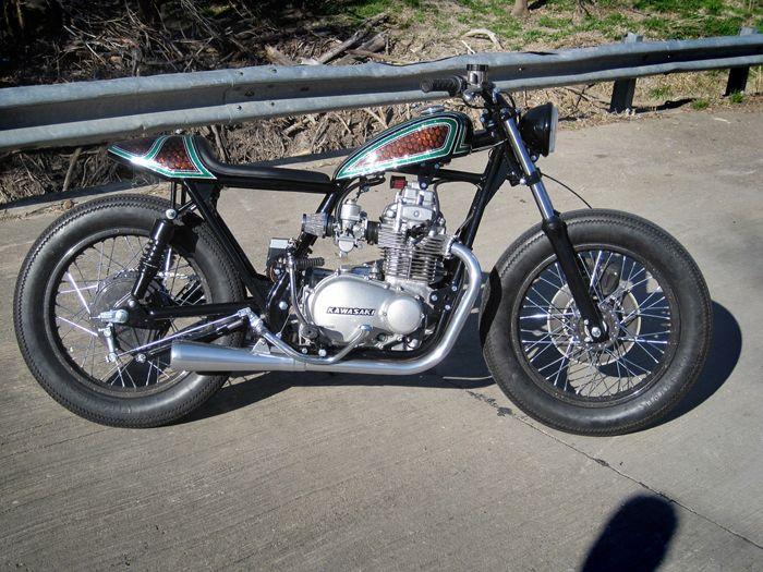 Kawasaki Kz400 Street Tracker Pipeburn Com Street Tracker Street Fighter Motorcycle Cool Bikes