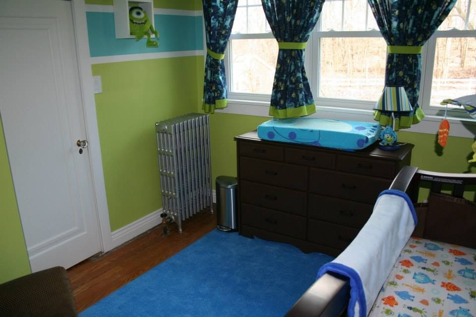 Another view of my little monster's new nursery! Monsters inc