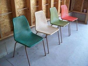 Nortex Mesh Stacking Chairs