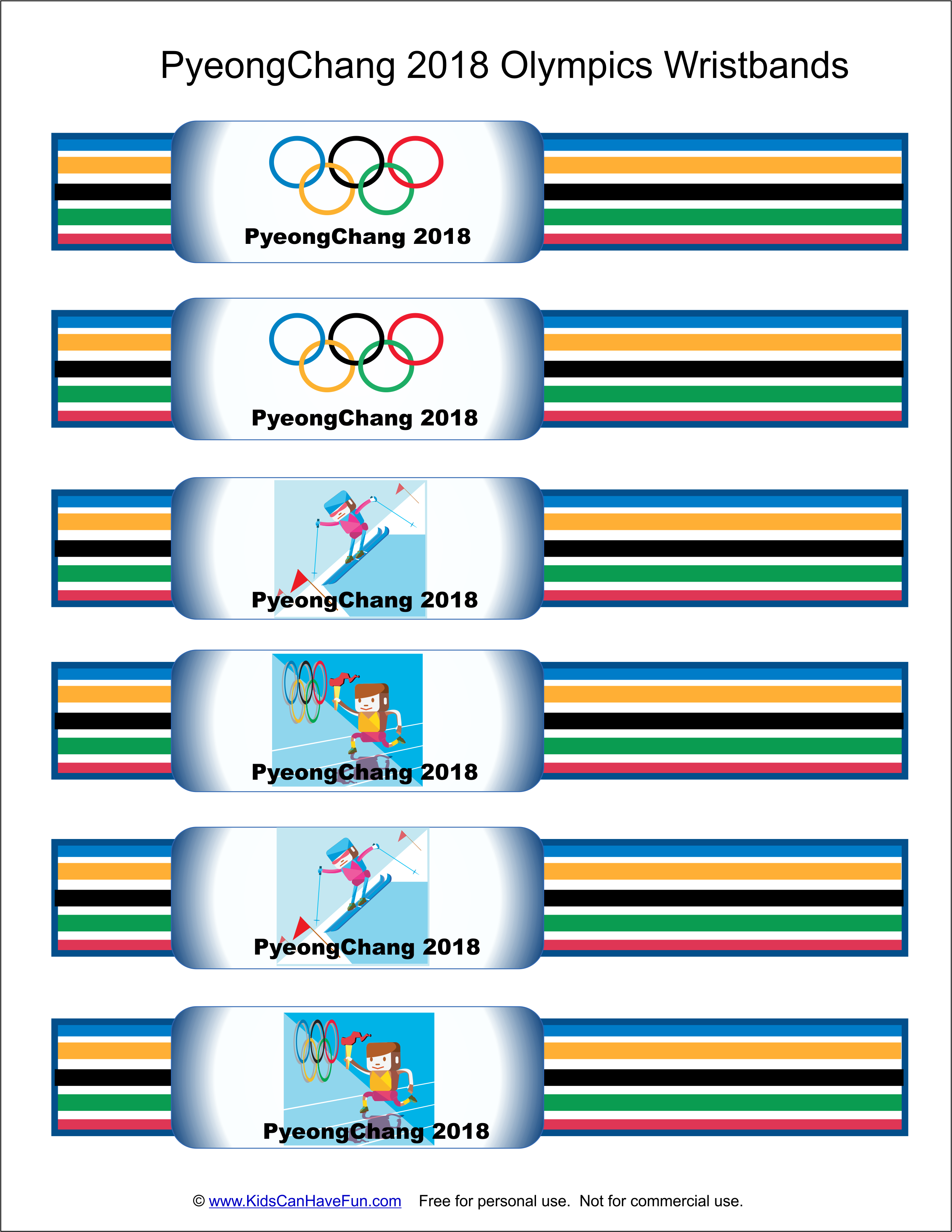 Diy Pyeongchang 2018 Olympics Wristbands For Kids Http Www Kidscanhavefun Com Winter Olymp Winter Olympics Activities Olympics Activities Winter Olympics [ 3304 x 2554 Pixel ]