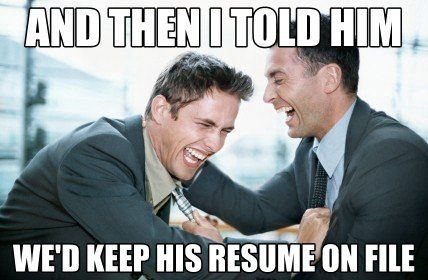 Funny Memes About Mental Illness : Failed job interviews be like #hr #meme #interviews #recruiters