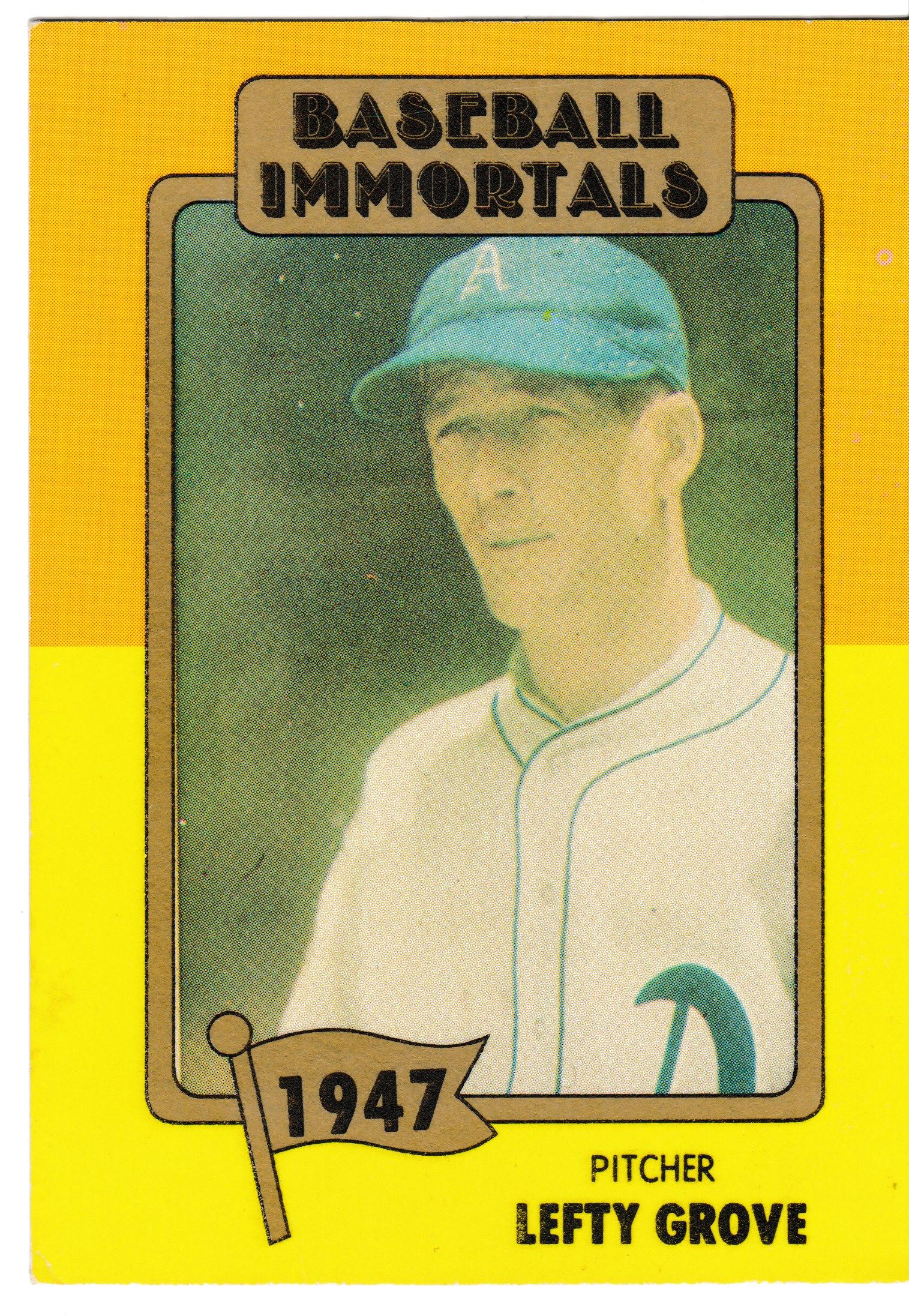 1980 Baseball Immortals Lefty Grove Baseball Cards Lefty Grove