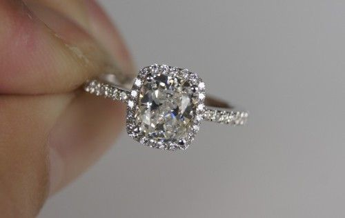 SONA ring silver plated PT950 platinum diamond ring