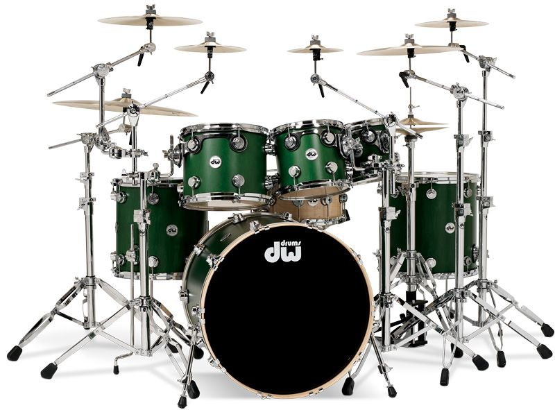 dw collector 39 s series satin emerald with chrome hardware drums pinterest drums drum kit. Black Bedroom Furniture Sets. Home Design Ideas