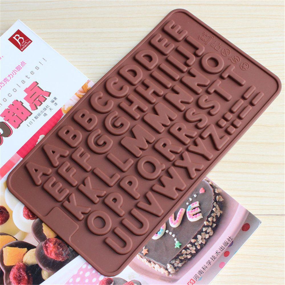 letter number silicone cake chocolate