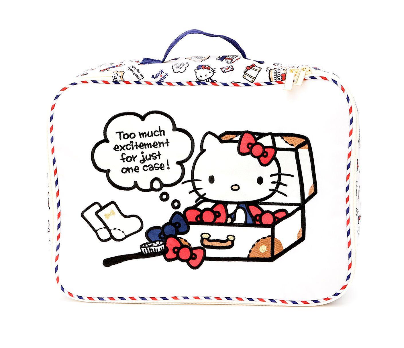 New Hello Kitty Sanrio Print Tote Bag Kawai Japan Free Shipping Big ribbon