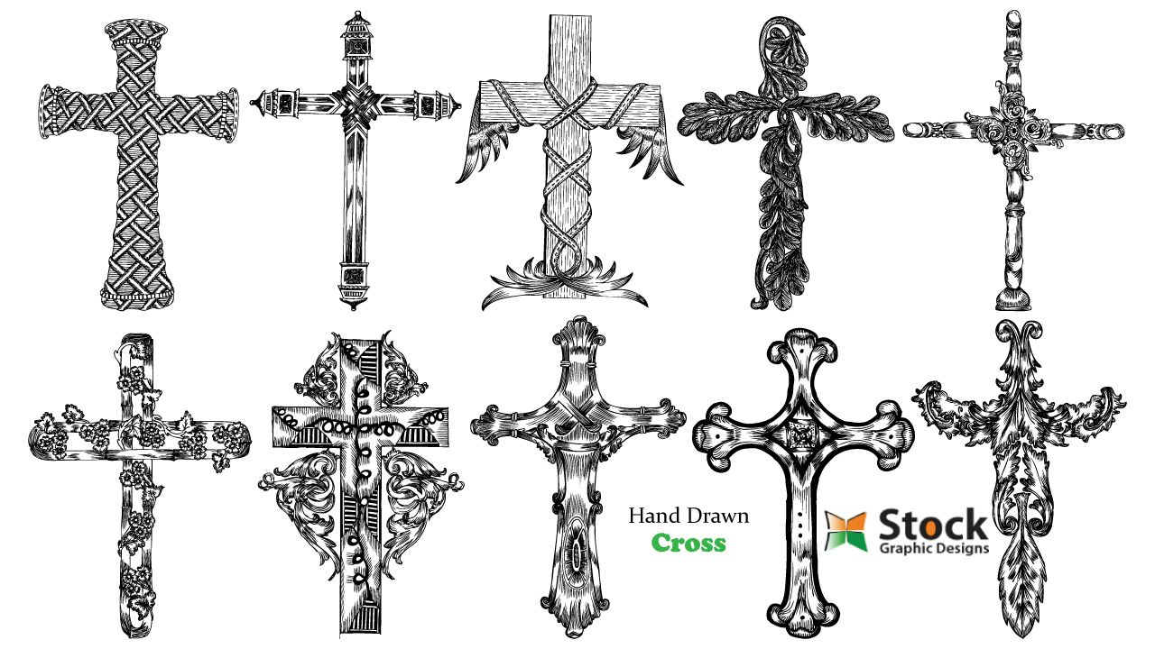 stockgraphicdesigns cross christian Cross drawing