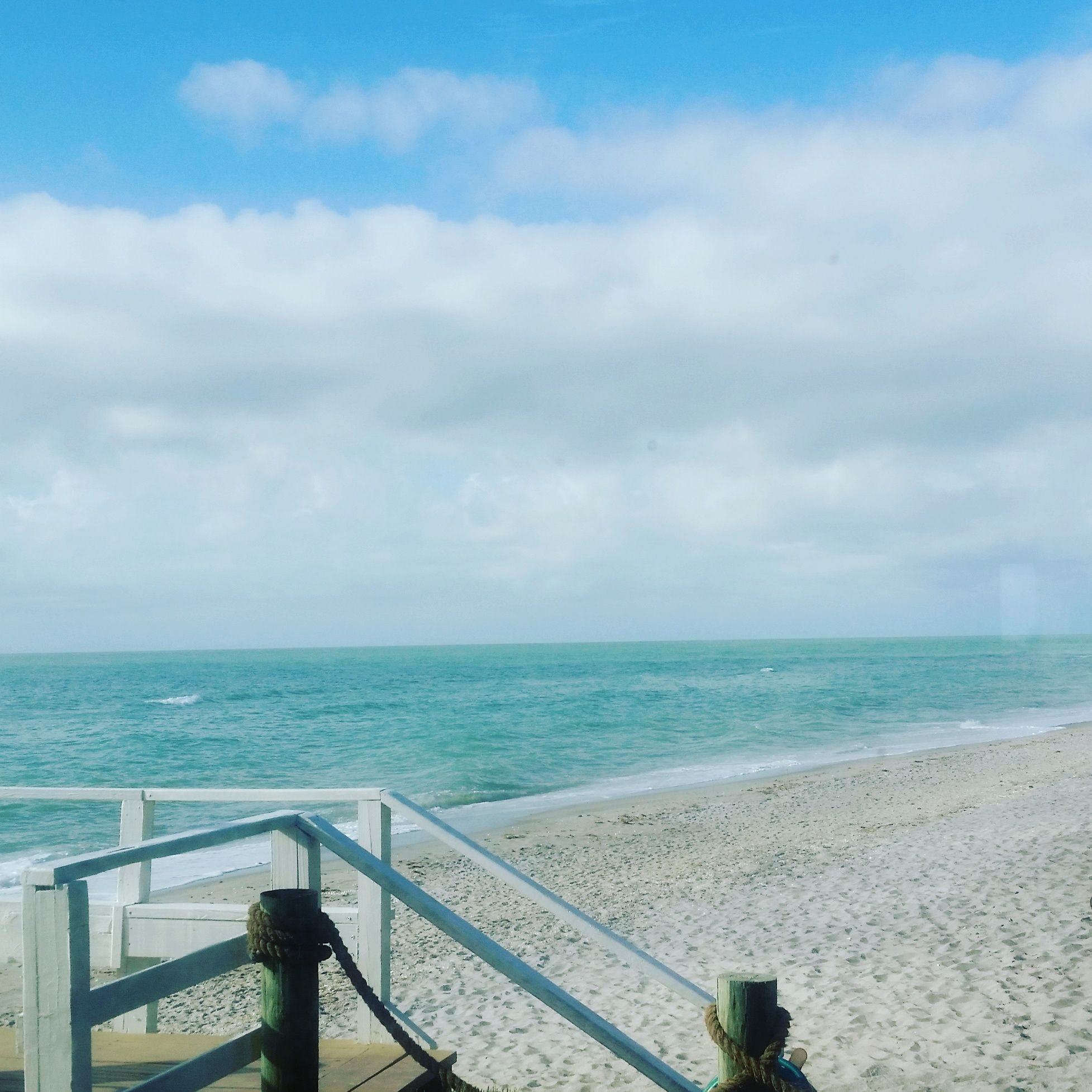 View from our Sunset Deck of Manasota Key Beach!   Pearl ...