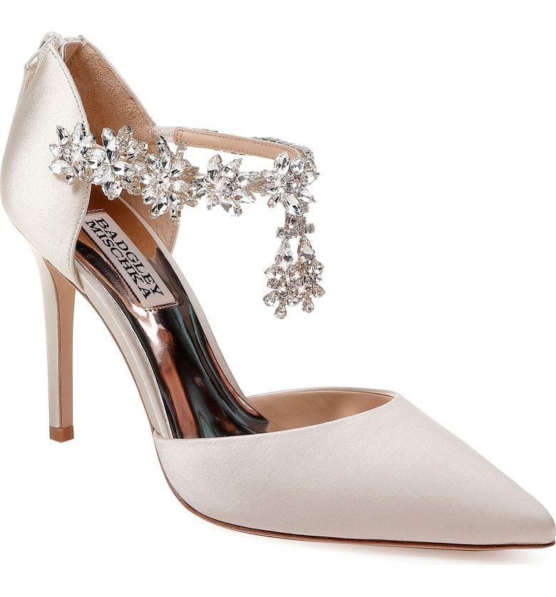 Badgley Mischka Venom Crystal Embellished Pump Women Nordstrom Beautiful Wedding Shoes Bridal Shoes Unique Wedding Shoes