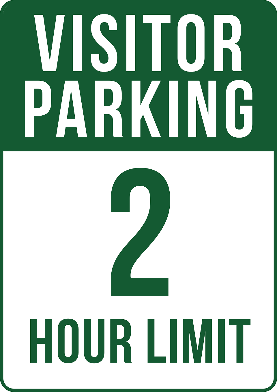 2 Hour Visitor Parking Sign Signs