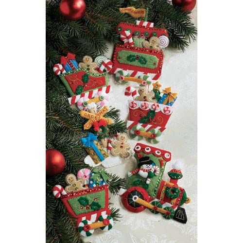 bucilla candy express ensemble kit candy express ornament kit - Christmas Tree Decorating Ensemble Kits