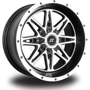 Sedona Front Rear Machined Black Badlands 12 X 7 Wheel 570 1200 Dennis Kirk Atv Wheels Wheel Bolt Pattern
