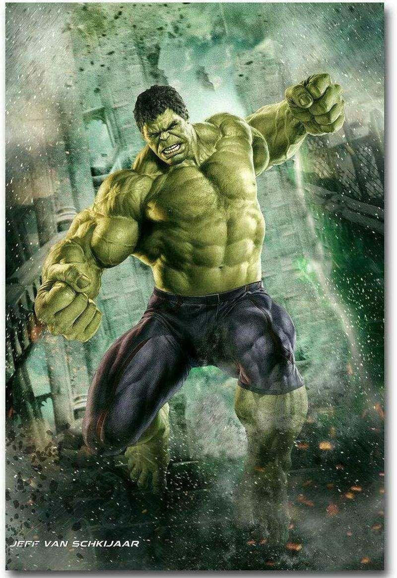 The Hulk Marvel Avenger Endgame Superhero Wall Art Poster Canvas Pictures