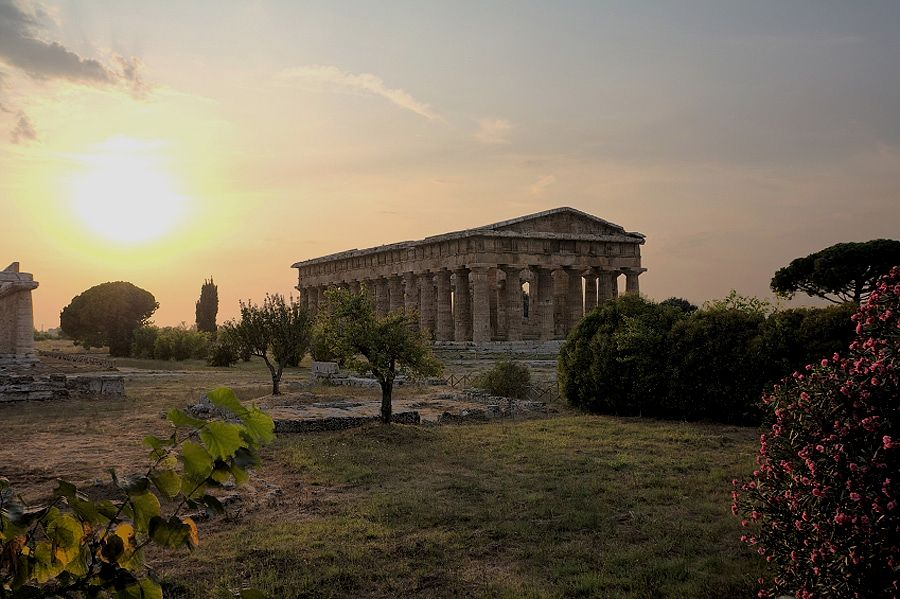 Paestum, Italy...you can see the amazing remains of three Doric temples built when it was a Magna Graecia colony named Poseidonia.