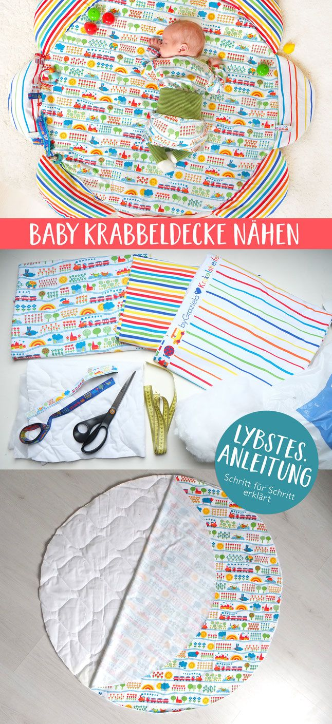 Photo of Anleitung: Eine Baby-Krabbeldecke nähen – Lybstes.