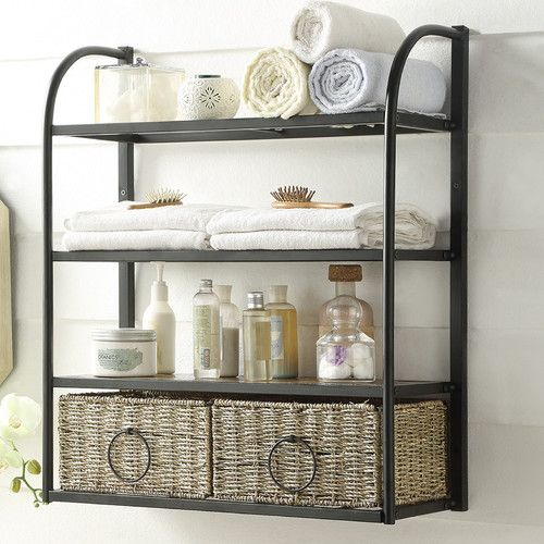 Found it at Wayfair - Windsor Hanging Storage Rack with Basket ...