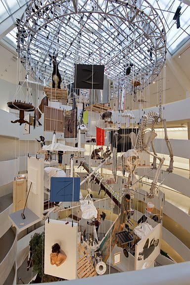 Maurizio Catelan installation, Guggenheim