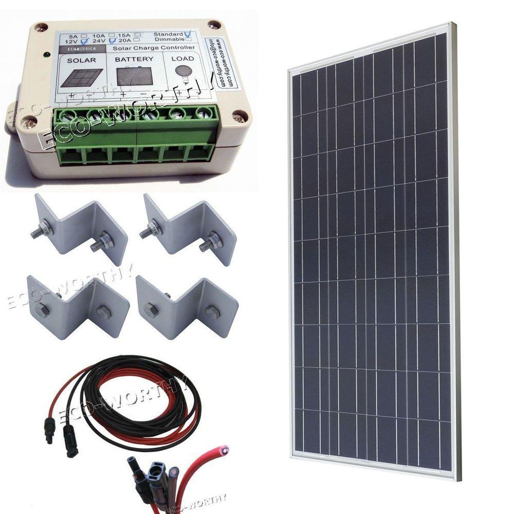 100w Off Gird Kits 100w Pv Solar Panel System Rv Boat Home 12v Battery Charge Solar Panel System Solar Pv Panel Solar Kit