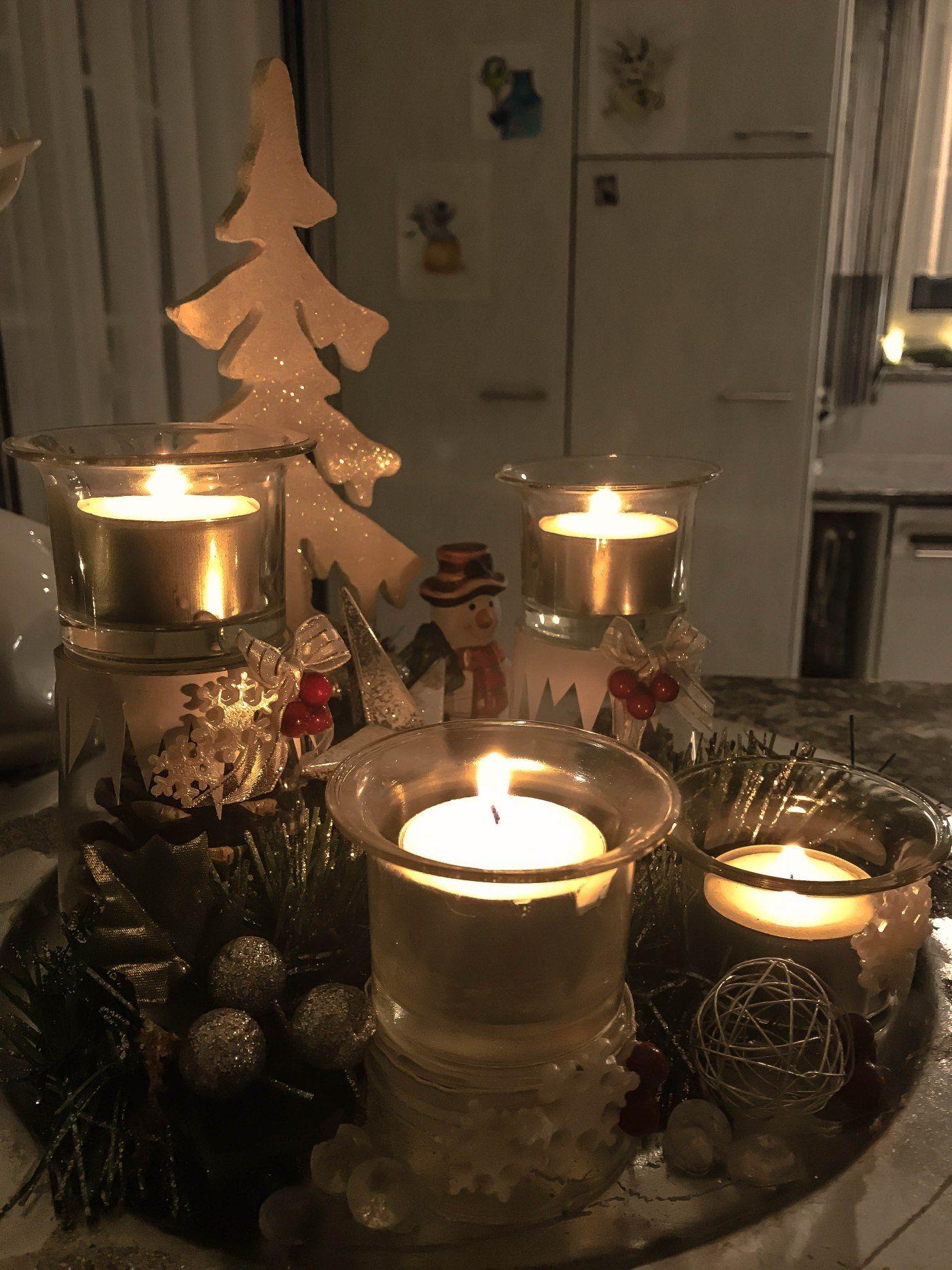 Diy Adventskranz Advent Weihnachtsstimmung Und Kerzen