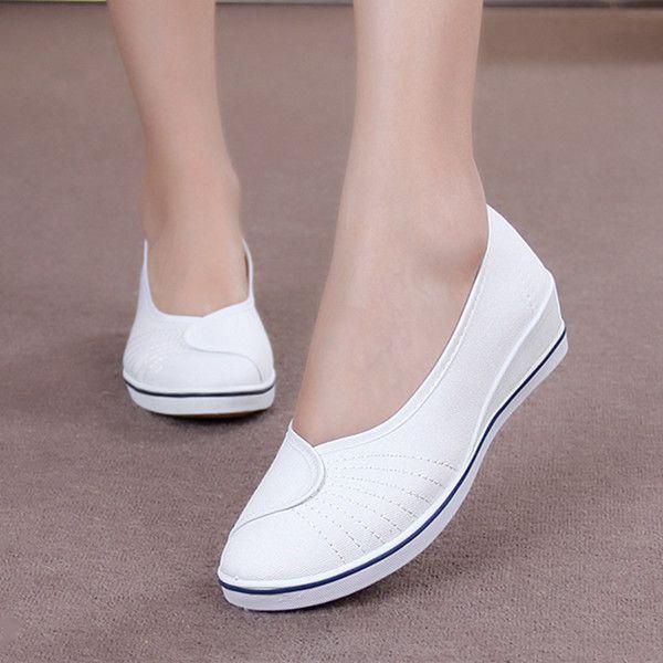 Aliexpress.com  Comprar Nuevas Mujeres de Los Planos Zapatos de la enfermera  2016 Señoras Para Mujer de Pisos holgazanes de los Zapatos De Las Mujeres  suela ... 4e1558127b23