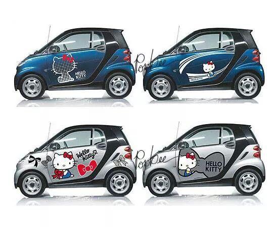 helo kitty smart cars